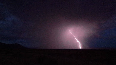 Photo: ...we watched the best fireworks show west of the Pecos over the desert near Van Horn!