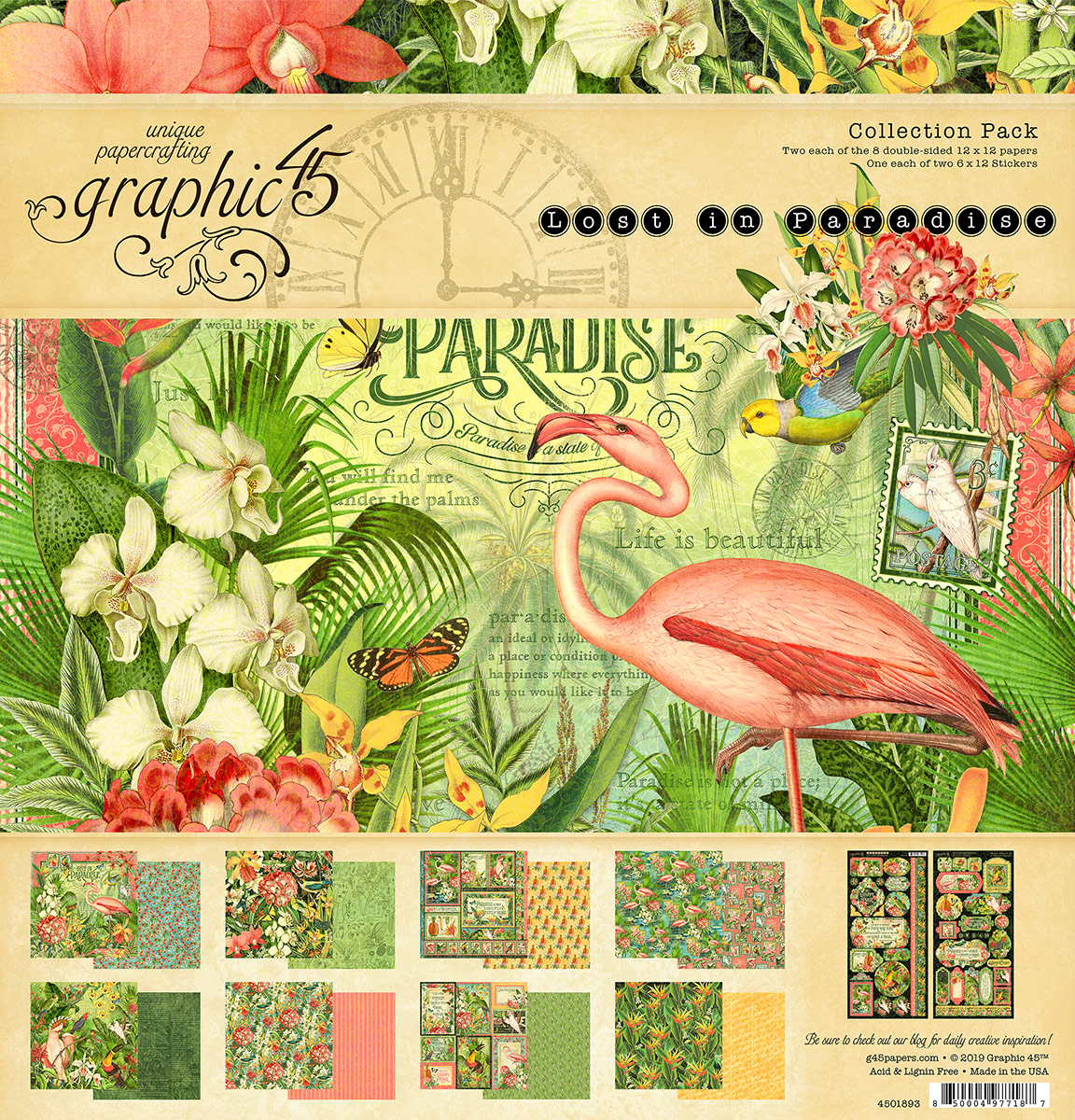 Birds of Paradise Pattern Sheet Collection by Sharon Osbourne Home
