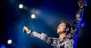 David Bisbal en el concierto que ofreció el pasado año ante 9.000 personas