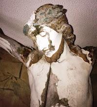 Photo: Jezusa smo previdno sneli in ga odpeljali na restavriranje v Bukovce. Stanje 23.2.2014.