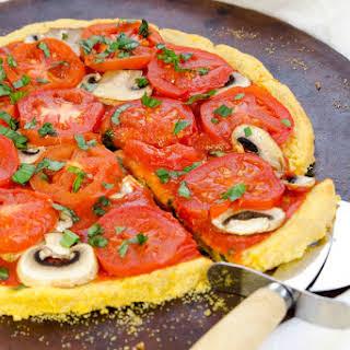 Polenta Pizza Crust [Vegan, Gluten-Free].