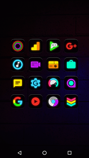 Screenshot for Neon Glow - Icon Pack in United States Play Store