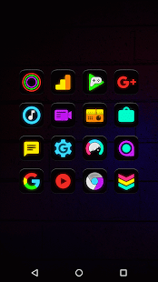 Neon Glow - Icon Pack - náhled