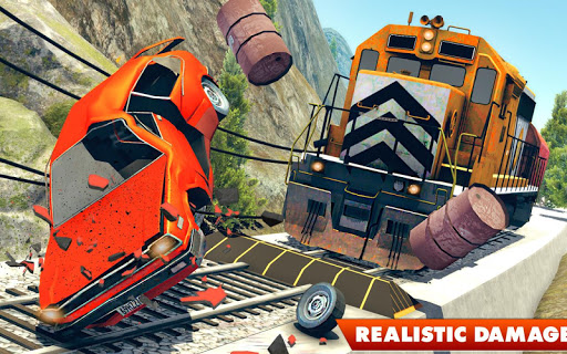 Train Vs Car Crash: Racing Games 2019 android2mod screenshots 15
