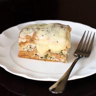 Crockpot Chicken Alfredo Lasagna.