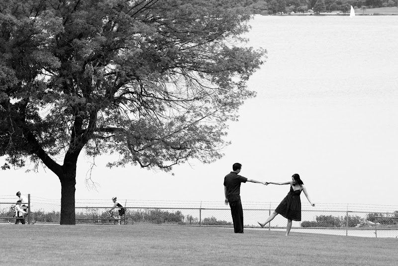Photo: Dance in the park  An engagement photo at White Rock Lake in Dallas.
