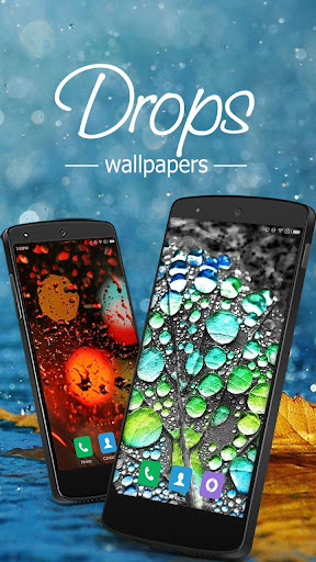 Glass Wallpapers Rain Drops