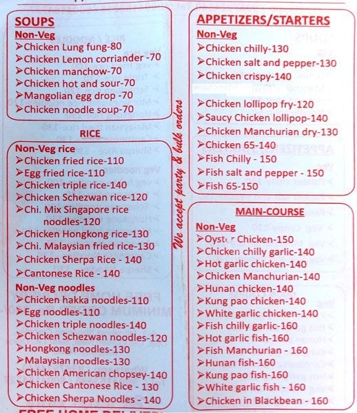 Foodiee's menu 2