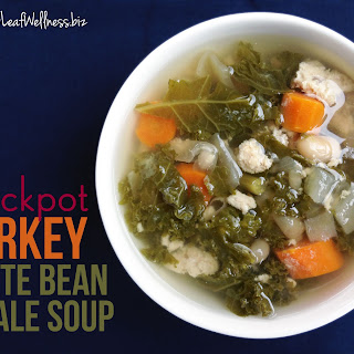 Crockpot Turkey White Bean and Kale Soup.