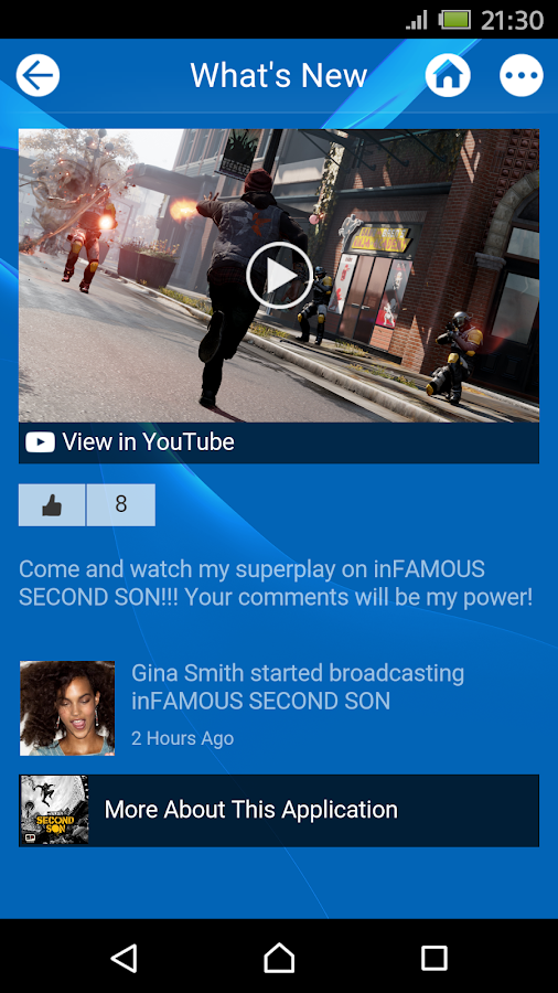 Screenshots of PlayStation®App for Android