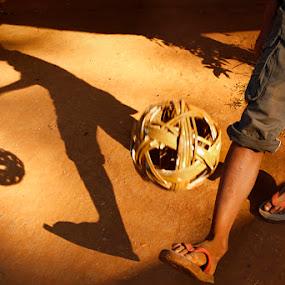 Chinlon by Felix Hug - Sports & Fitness Soccer/Association football ( silhouette )