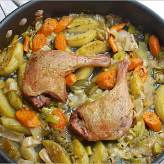 Braised/Roasted Duck Legs with Vegetables.
