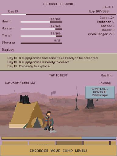 u2622 The Wanderer : Text-based Adventure Survival apkdebit screenshots 9