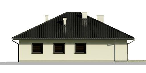 Dom przy Słonecznej 5 - Elewacja tylna