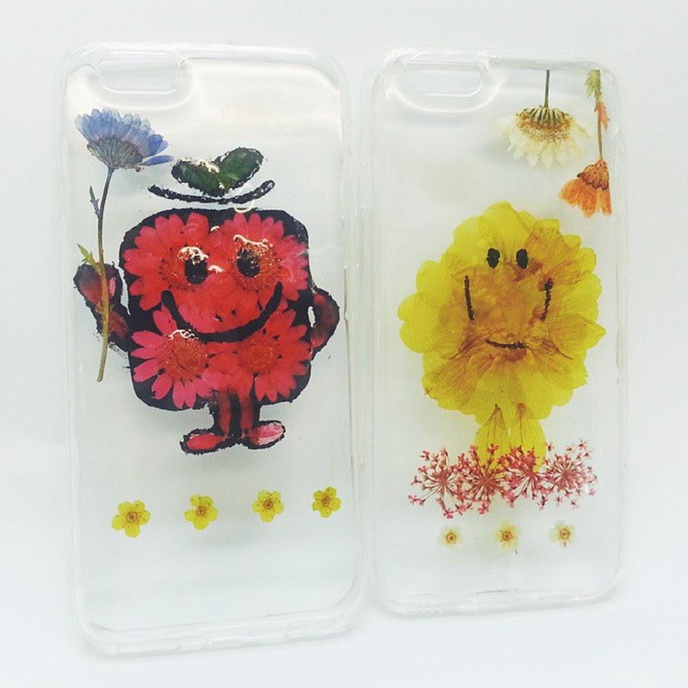[訂製/custom-made] Mr Angry Pressed Flower Phone Case