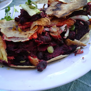 Brazilian Black Bean Frijoles with Beets