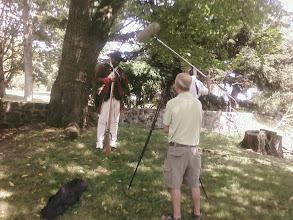 Photo: Joe Becton being filmed