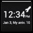 Uniq Clock (Widget)