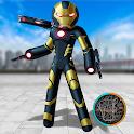 Neon Black Iron Stickman Rope Hero Gangstar Mafia icon