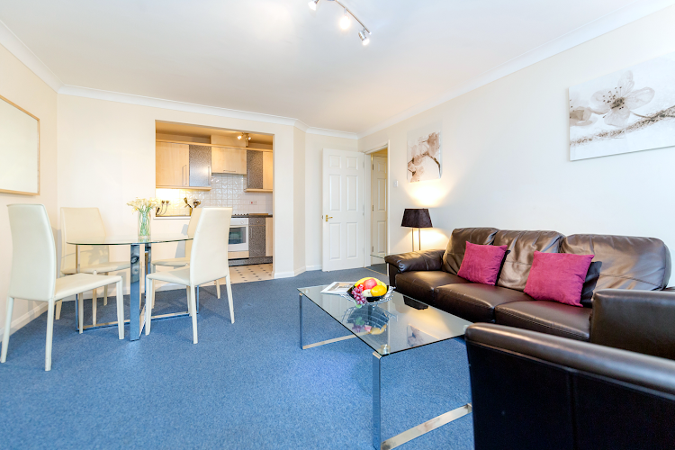 Living area at Kingston upon Thames apartment
