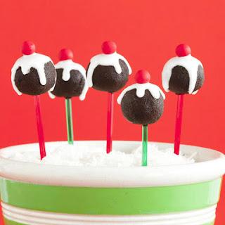 Christmas Pudding Pops