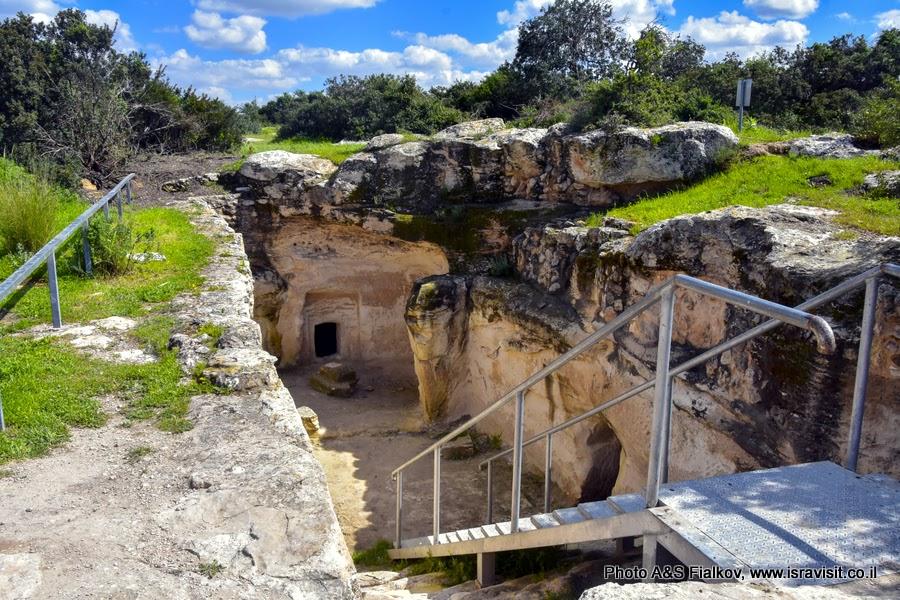 Подземелья Хирват Бургина. Экскурсия в археологическом парке, Иудея, Израиль.