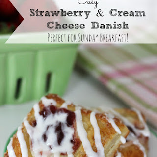 Strawberry Cream Cheese Danish | Easy Weekend Breakfast Idea!