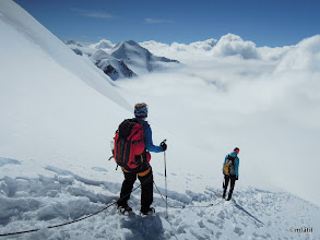 Photo: descent to the clouds