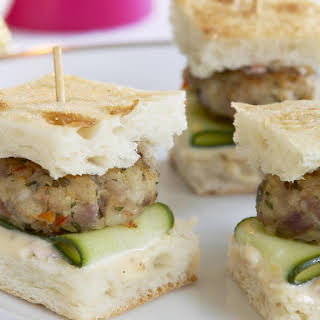 Mini Thai Chicken Burgers.