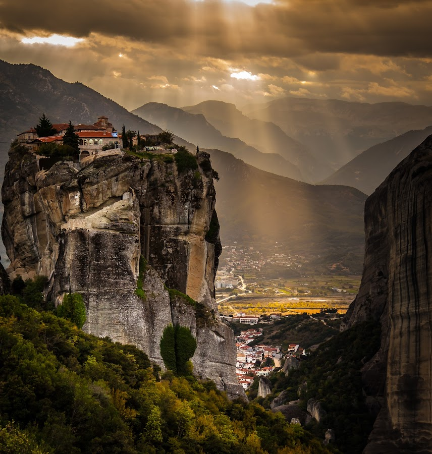 by George Petropoulos - Landscapes Mountains & Hills ( tranquil, europe, meteora, relax, greece,  )