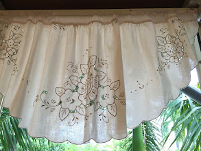 Photo: 120X50CM 米色 蕾絲短簾 $1680