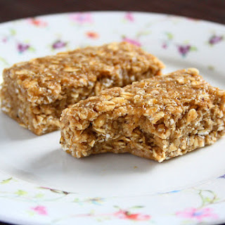 Sticky Banana Peanut Butter Oatmeal Bars.