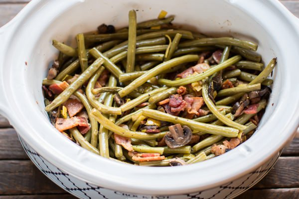 Slow Cooker Holiday Green Beans Recipe