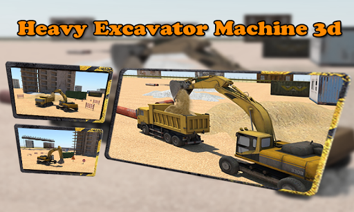 Heavy Excavator Machine 3d