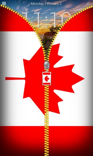 Canada Flag Zipper Lockscreen