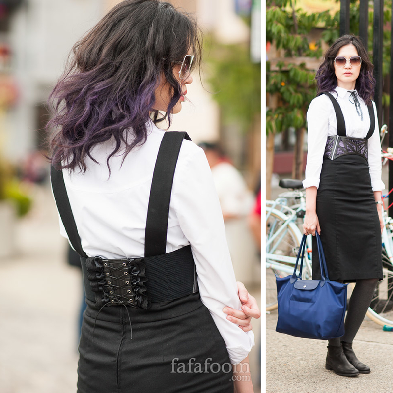 Refashioned Waist Corset Belt - DIY Fashion Accessories | fafafoom.com
