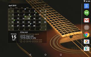 Screenshot of Calendar Widget: Month+Agenda