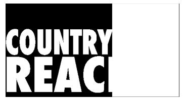 Country Reach Marketing Logo - White