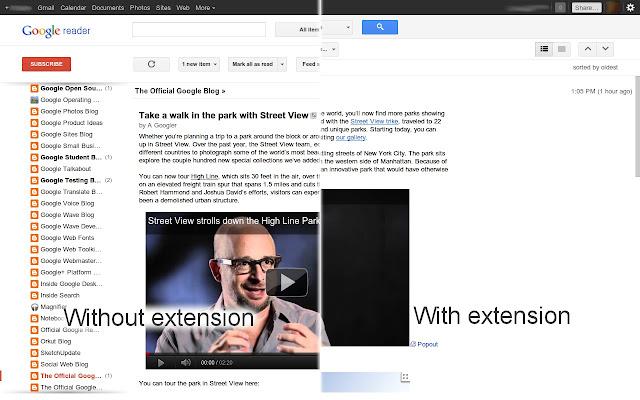 Compact Density for Google Reader