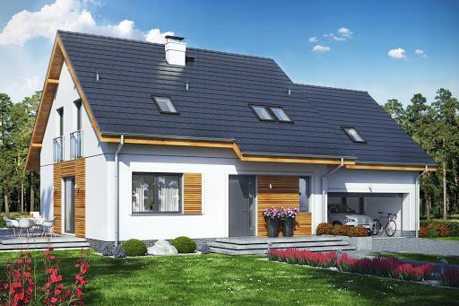 projekt Jaskółka 7 z garażem 2-st.