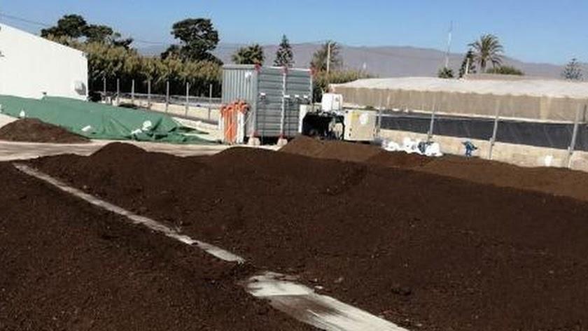 Aprovechamiento de los residuos procedentes del sector hortícola: pila de compostaje.