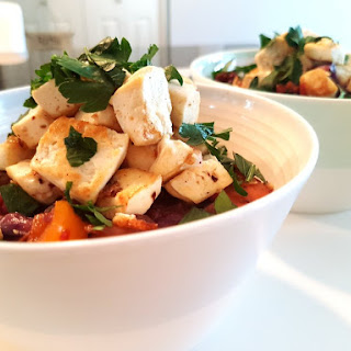 Quinoa with Fresh Vegetables and Tofu