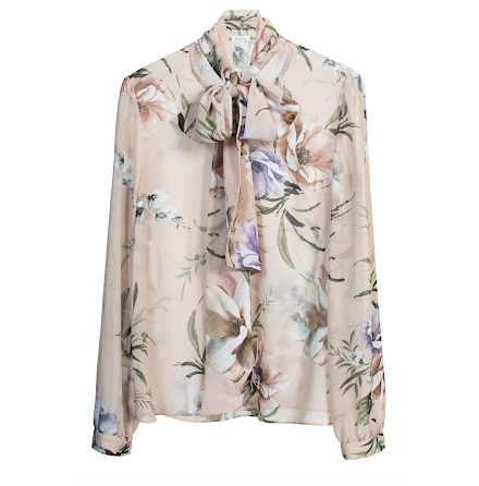 Peony Blouse, Pastel Floral
