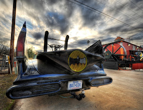 Photo: Batmobile in Brenham, Texas   On one of my little Texas road trips, I saw this thing on the side of the road and it was worth a turn-around! It kind of makes me want to have an awesome and impractical car like this. Everything else I do in my life is so dang practical...I think I need an impractical car!   from the blog at www.stuckincustoms.com