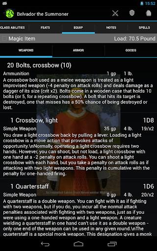 d20 Character Sheet screenshot 21