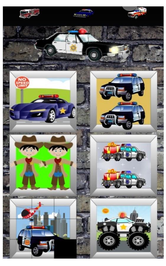 police car and firetruck games screenshot