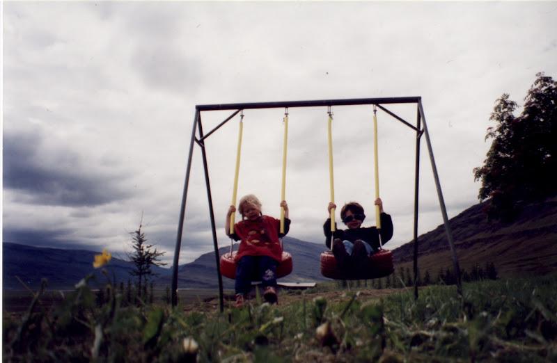 Photo: Guðborg Gná and Karl Neptúnus at Skriðuklaustur a long long time ago:)
