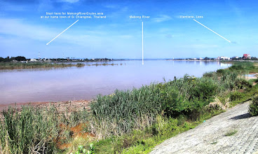 Photo: Si Chiangmai and Vientiane on the south and north banks of the Mekong River.