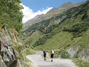 Photo: ... and head for Refuge Le Mottets at 6135 ft., a modest 1000 ft. climb, mostly on road.