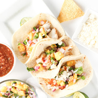 Grilled Fish Tacos with Pineapple Salsa.